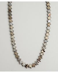 Tuleste | Gray Gunmetal Plated Star Chain Necklace | Lyst