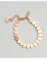 Tuleste - Metallic Rose Gold Plated Heart Bracelet - Lyst