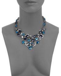 ABS By Allen Schwartz - Blue Jewel Bib Necklace - Lyst