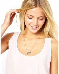ASOS - Metallic Cath Kidston Bow Necklace - Lyst