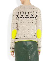 Chinti & Parker   Beige Reindeer Intarsia Cashmere Sweater   Lyst