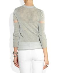 Dion Lee - Gray Reflective Knitted Sweater - Lyst