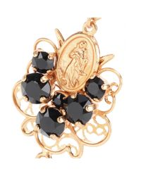 Dolce & Gabbana - Black Bead and Crystalembellished Clipon Earrings - Lyst