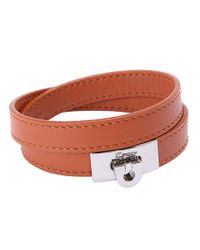 Ferragamo | Brown Leather Wrap Bracelet for Men | Lyst