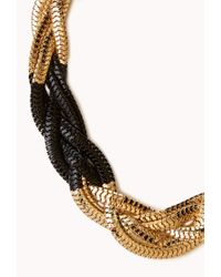 Forever 21 | Black Colorblocked Snake Chain Necklace | Lyst
