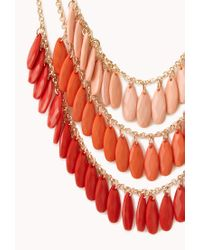 Forever 21 - Festive Layered Ombré Necklace - Lyst