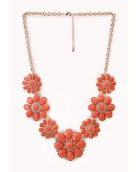 Forever 21 - Multicolor Flower Statement Necklace - Lyst