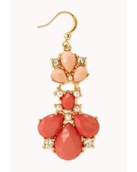 Forever 21 - Orange Regal Twotone Drop Earrings - Lyst
