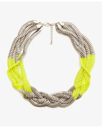 Forever 21 | Yellow Colorblocked Snake Chain Necklace | Lyst
