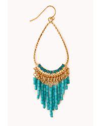 Forever 21 - Blue Striking Chandelier Earrings - Lyst