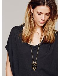 Free People - Gray Kai Necklace Pendant - Lyst