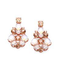 kate spade new york - Pink Faceted Chandelier Earrings - Lyst