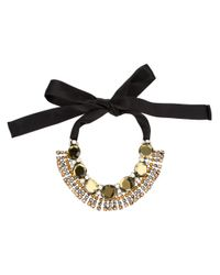 Marni | Black Art Deco Style Necklace | Lyst