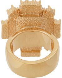 Mawi | Metallic Emerald Crystal Geometric Ring | Lyst