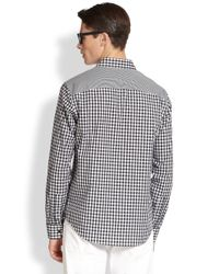 Michael Kors | Black Zachary Gingham Shirt for Men | Lyst