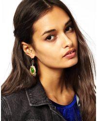 ASOS | Green Circle Beaded Drop Earrings | Lyst