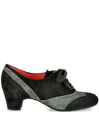 Pas De Rouge - Gray V332 Black and Grey Suede Oxford - Lyst