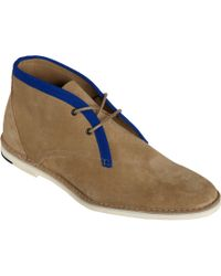 Pierre Hardy - Natural Trimmed Derby Chukka for Men - Lyst