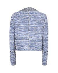 Proenza Schouler - Blue Asymmetric Placket Jacket - Lyst