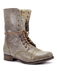 Steve Madden - Brown Troopa - Stone Leather Combat Boot - Lyst