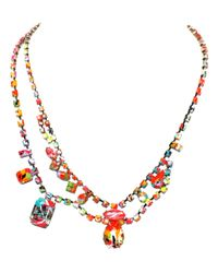 Tom Binns | Multicolor Riot Of Colour Asymetrical Necklace | Lyst
