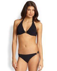 Tory Burch | Black Logo Halter Bikini Top | Lyst