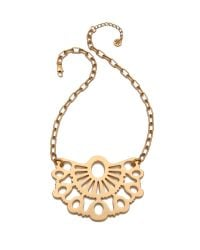 Tory Burch - Metallic Madura Pendant Necklace - Lyst