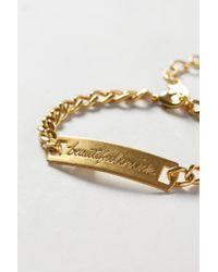 Anthropologie - Metallic Affirmation Bracelet - Lyst