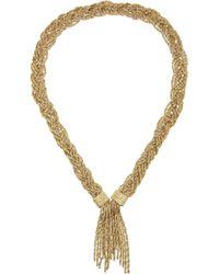 Aurelie Bidermann | Metallic Miki Gold-Plated Rope Necklace | Lyst