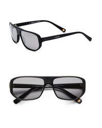 Balmain - Black Modern Geometric Acetate Metal Sunglasses for Men - Lyst