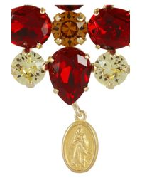 Dolce & Gabbana - Metallic Escape Goldplated Swarovski Crystal Clip Earrings - Lyst