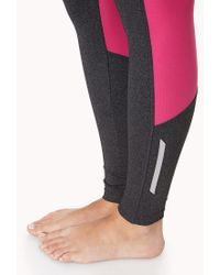 Forever 21 - Gray Mesh-Trimmed Skinny Workout Leggings - Lyst