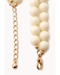 Forever 21 | White Layered Faceted Faux Stone Necklace | Lyst
