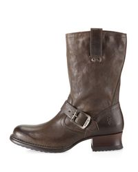 Frye | Brown Martina Short Boot Gray | Lyst