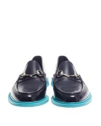 Gucci - Blue Jelly Snaffle Loafers - Lyst