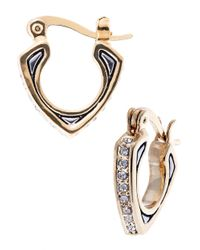 House of Harlow 1960 | Metallic Engraved Pave Earrings | Lyst