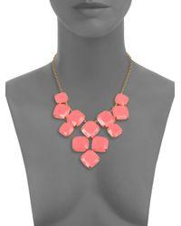 kate spade new york - Pink Shaken Stirred Statement Necklace - Lyst