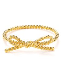 kate spade new york | Metallic Skinny Mini Rope Bangle | Lyst