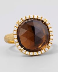 Marco Bicego | Metallic Jaipur Sunset Diamond-Bezel Smoky Quartz Ring | Lyst