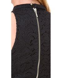 Nicholas - Black Paisley Lace Crop Top - Lyst