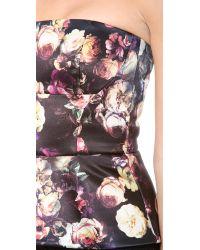 Nicholas - Multicolor Romatic Floral Peplum Bustier Top - Multi - Lyst