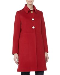 Sofia Cashmere | Modern Goldenbutton Coat Red | Lyst