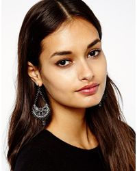 Sprayground - Black Warehouse Ornate Beaded Chandelier Drop Earrings - Lyst