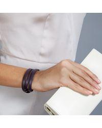 Astley Clarke - Purple Iris Nappa Leather Bolsena Bracelet - Lyst
