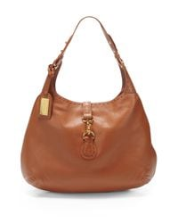 Badgley Mischka - Brown Maelle Contrast Sitch Leather Hobo - Lyst