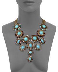 Erickson Beamon - Blue Girls On Film Swarovski Crystal Multi-Row Necklace - Lyst