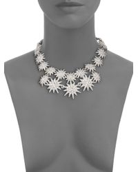 Kenneth Jay Lane - Metallic Starburst Double Row Necklace - Lyst