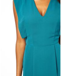 ASOS   Green Pencil Dress With Fold Sleeve Detail   Lyst