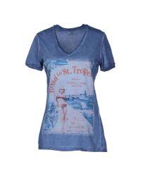 Athletic Vintage - Blue Short Sleeve Tshirt - Lyst