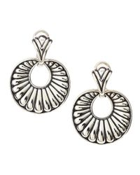 Lagos - Metallic Chichi Round Fluted Earrings - Lyst
